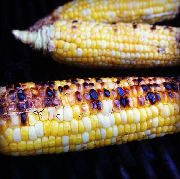 Family Fun: Charred Corn with Basil Butter
