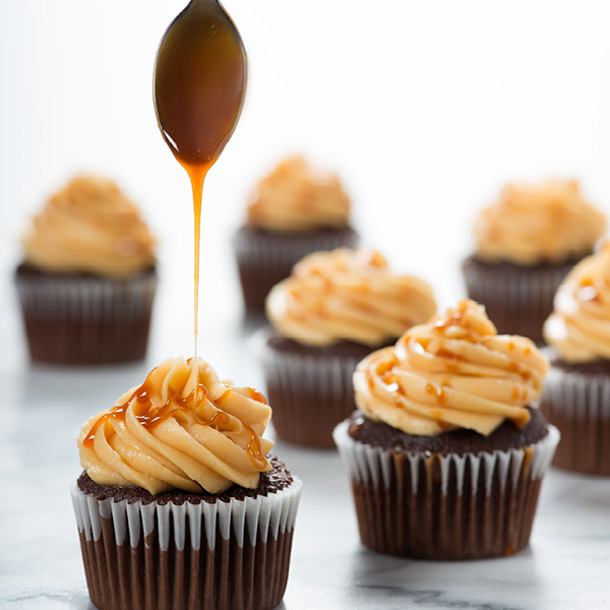 Salted Caramel Frosting from The Hot Plate