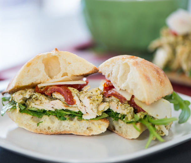 Chicken Pesto Picnic Sandwiches from The Hot Plate