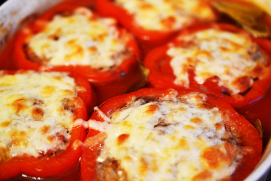 Mom's Famous Stuffed Bell Peppers from Duhlicious
