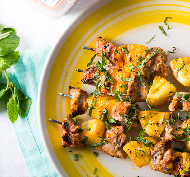 Grilled Thai Curry Beef Skewers Recipe — Dishmaps
