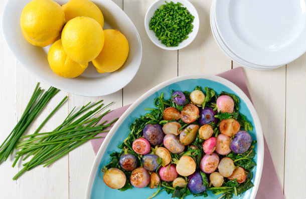 Simple Pan-Roasted Brown Butter Radishes