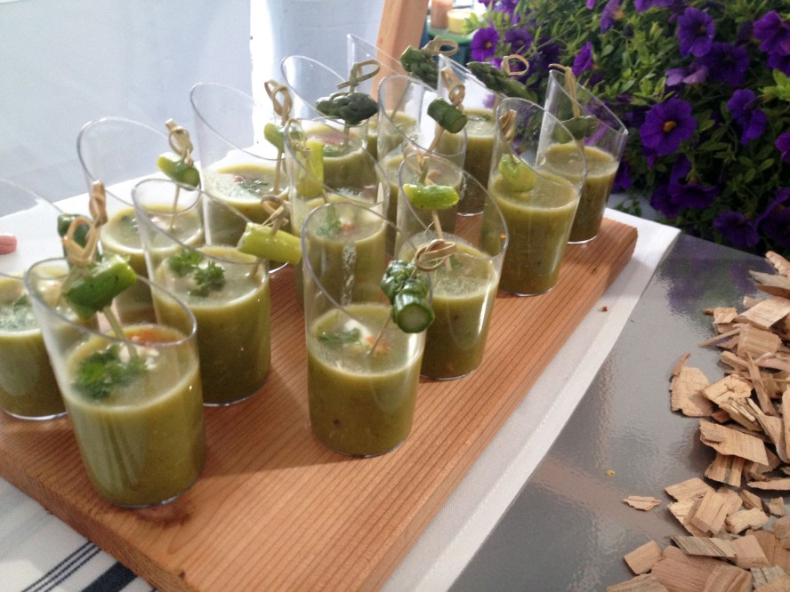 Chilled asparagus soup with crab from George Brown College's Chef ...