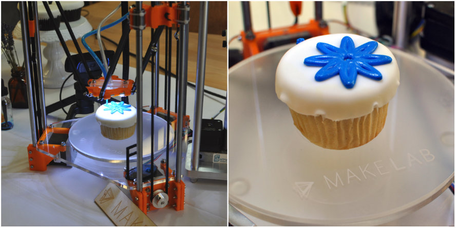 Printer For Cake Images : Food News: 3D-Printed Cupcakes