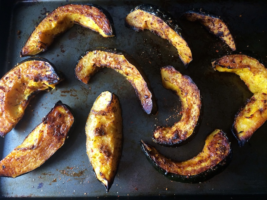 Harissa Roasted Squash Recipe — Dishmaps