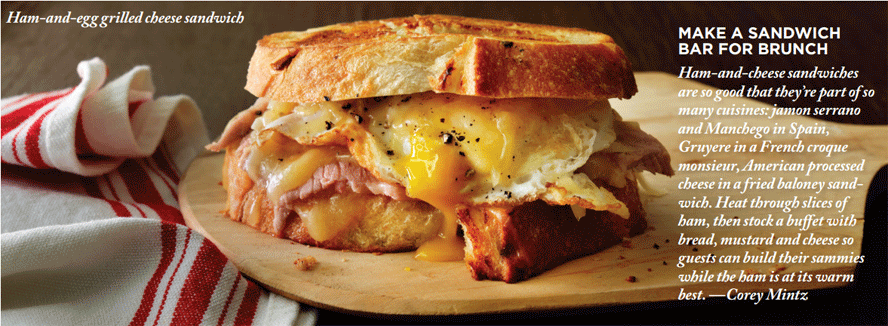 how to make a ham egg and cheese sandwich