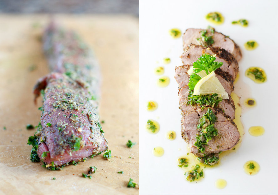 roast pork loin with salsa verde get pork meat and other free range ...