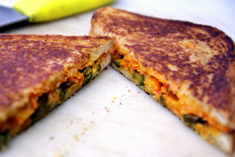 how to make doritos grilled cheese