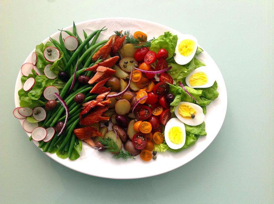 Salad Niçoise with Dijon Lemon Dressing: 1 Dish, 2 Ways | foodnetwork ...