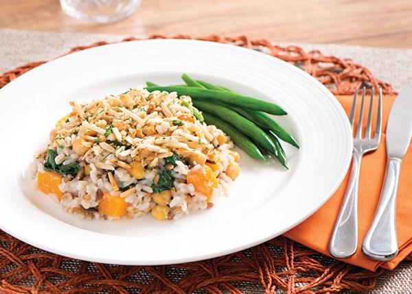 Creamy Kale and Butternut Squash Casserole