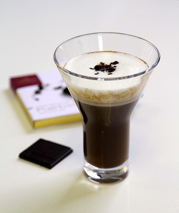 Domori and Rum Hot Chocolate