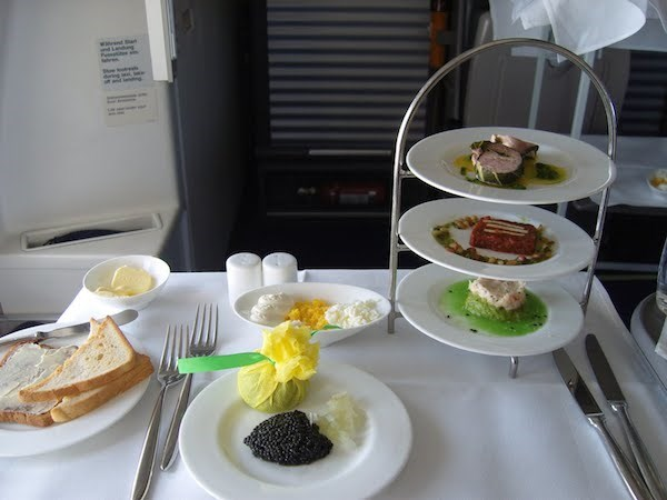 10 Luxurious First Class Flight Meals You Won't Believe ...