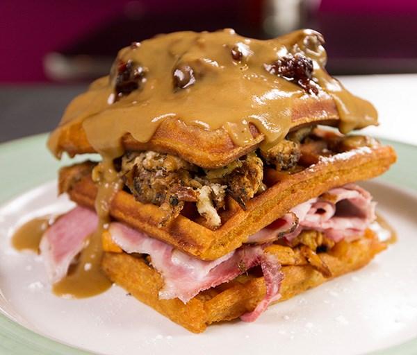 Butternut Squash Waffles & Gravy