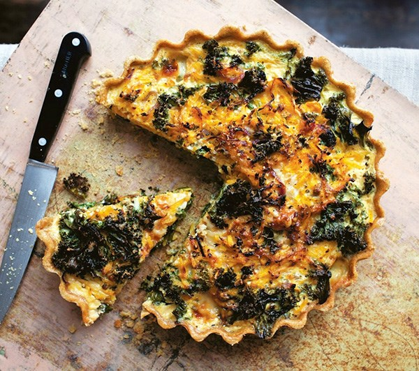 Light Tart of Butternut Squash and Kale
