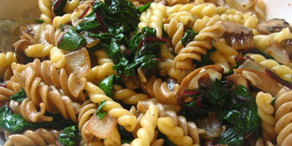 Penne With Spinach, Gorgonzola, And Walnuts Recipe — Dishmaps