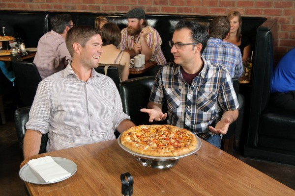 Dating two guys pizza pies
