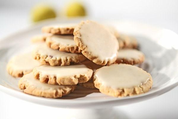 of 18 glazed lemon pecan cookies these lemony cookies