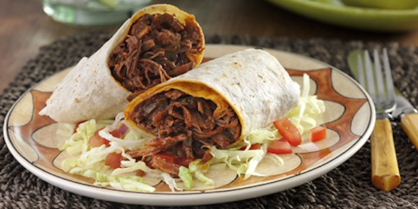Slow-Cooker Shredded Beef Burritos