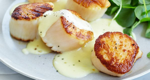 Scallops With Carrot Cream And Marjoram Recipes — Dishmaps