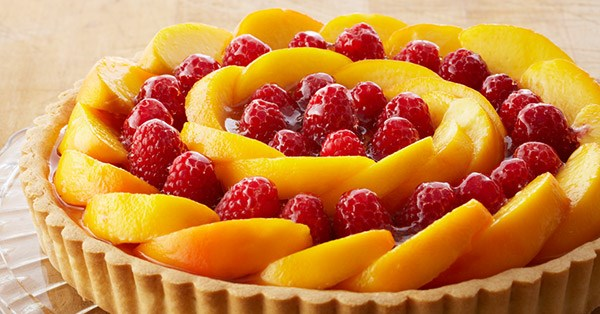 Peach Raspberry Custard Tart