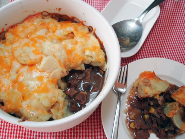 Leftover Roast Beef and Scalloped Potato Bake