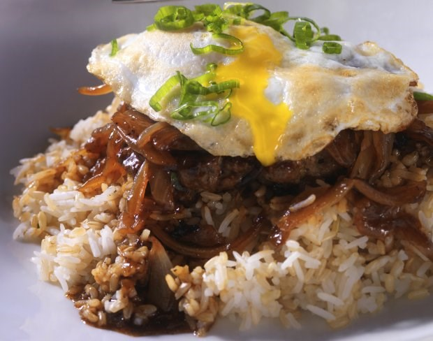 Caramelized Onion and Beef Loco Moco