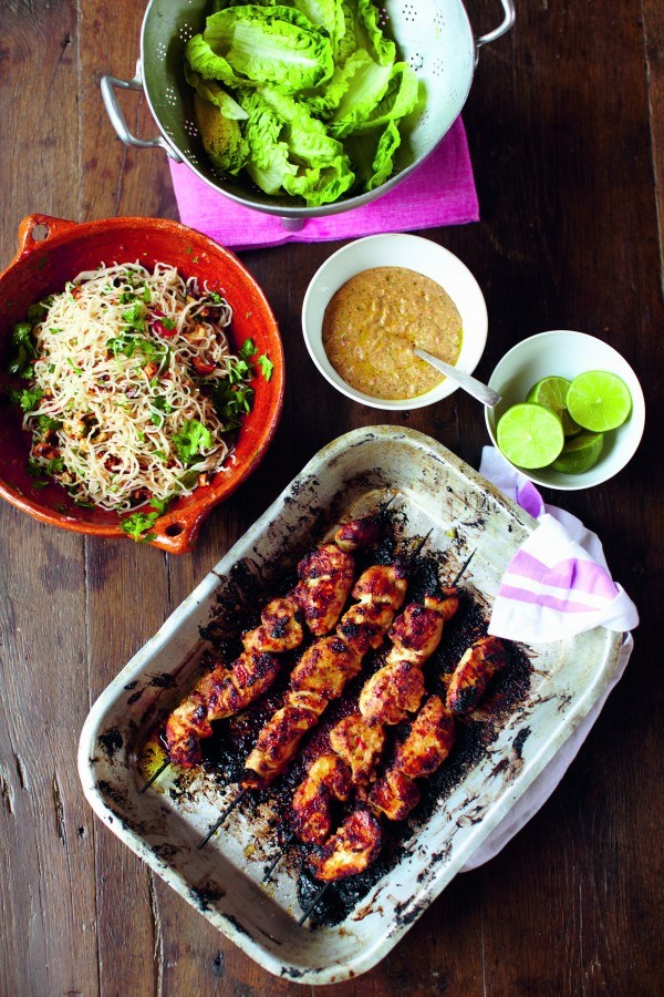 50 most popular chicken recipes guyana news and information chicken skewers with satay sauce forumfinder Images