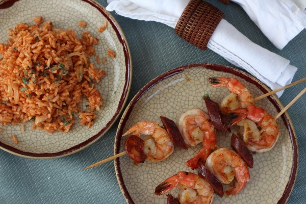 Shrimp and Chorizo Skewers