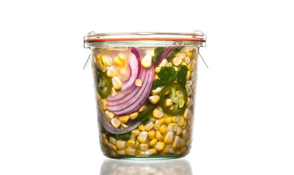 Jalapeño-Cilantro Pickled Corn