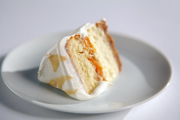 Multi-Layered Peach Cake