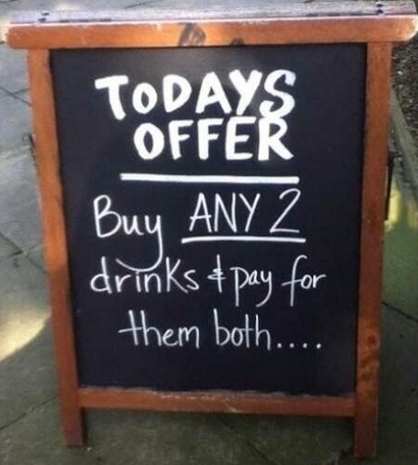 24 Hilarious Restaurant Chalkboard Signs | Food Network Canada