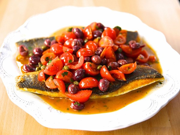 15 light dinner recipes from giada de laurentiis food for Branzino fish recipes