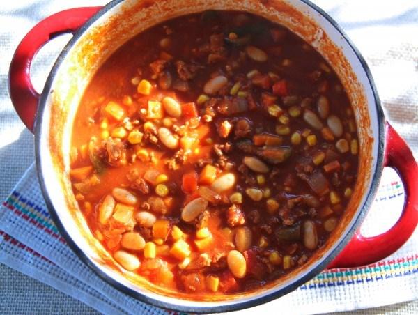 Chicken, White Bean and Corn Chili