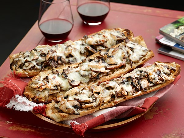 Mushroom Lovers' French Bread Pizza