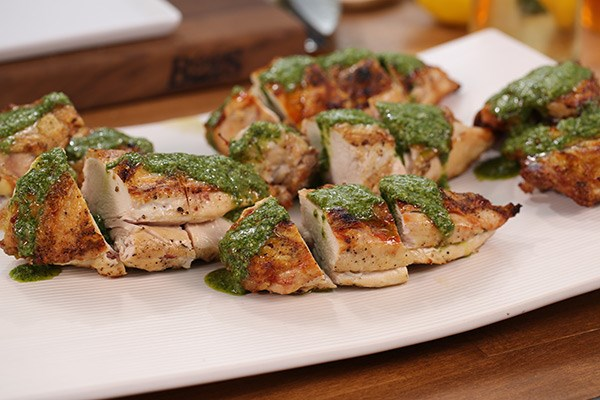 Pressed Chicken with Salsa Verde