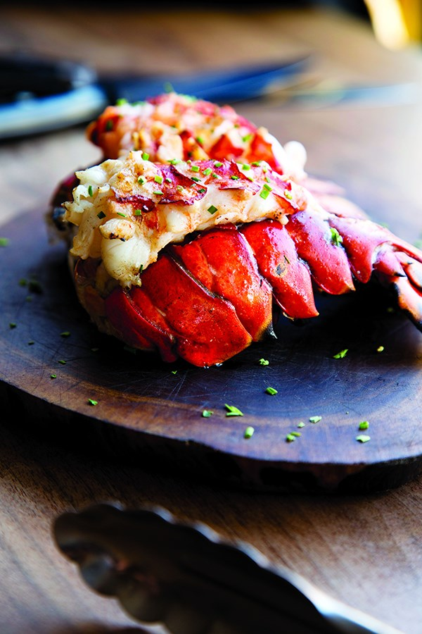 Butterflied Lobster Tails with Garlic-Lemon Butter