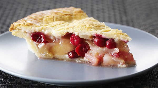 Flourless Pear and Cranberry Pie