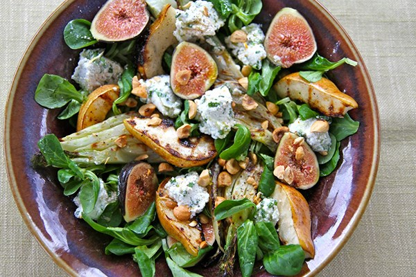 Grilled Fennel and Pear Salad