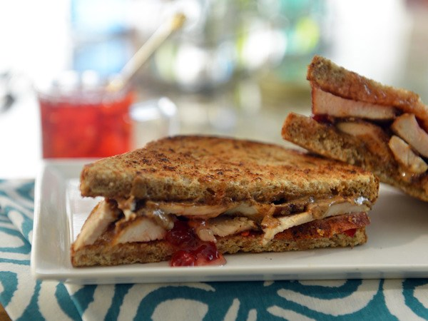 Blackened Chicken Sandwiches with Almond Butter and Red Pepper Jam