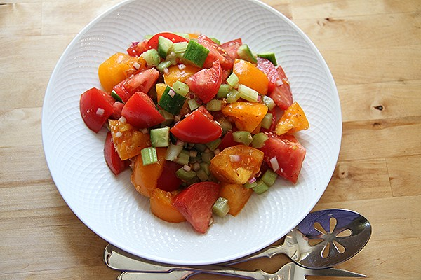 Bloody Caesar Tomato Salad