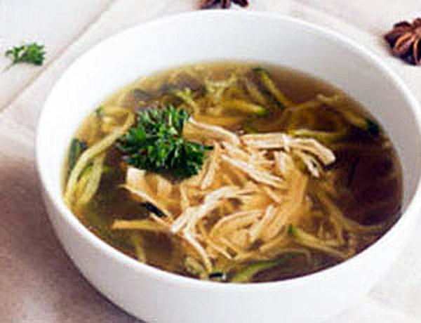 Chicken Noodle Soup with Zucchini Noodles