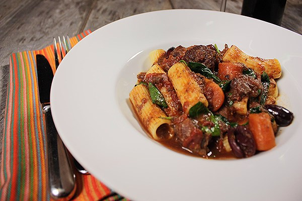 Pasta with Tomato Braised Beef Shanks