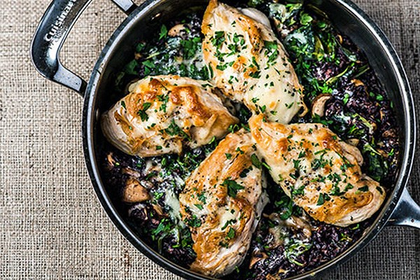 Wild Rice and Chicken Skillet