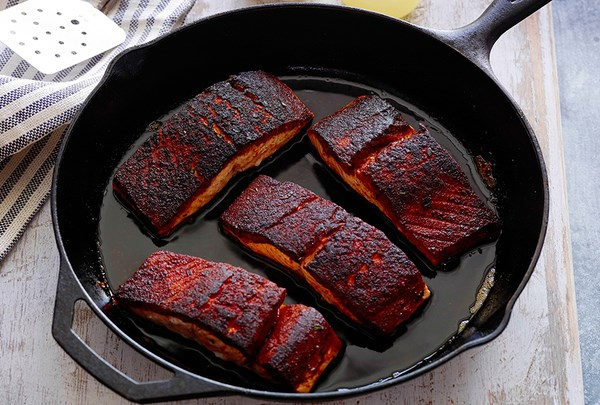 Blackened Salmon With Crunchy Coconut Couscous Recipe — Dishmaps