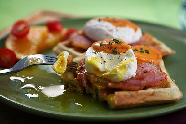 Rosti With Bacon And Scallions Recipe — Dishmaps
