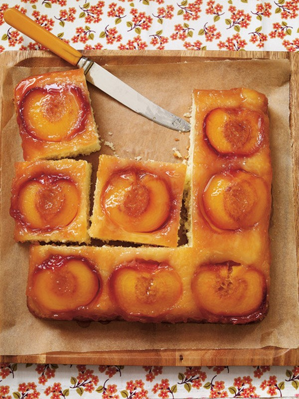 Ricardo's Peach Upside-Down Cake