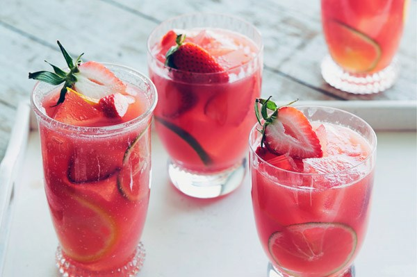 Watermelon-Strawberry Sangria