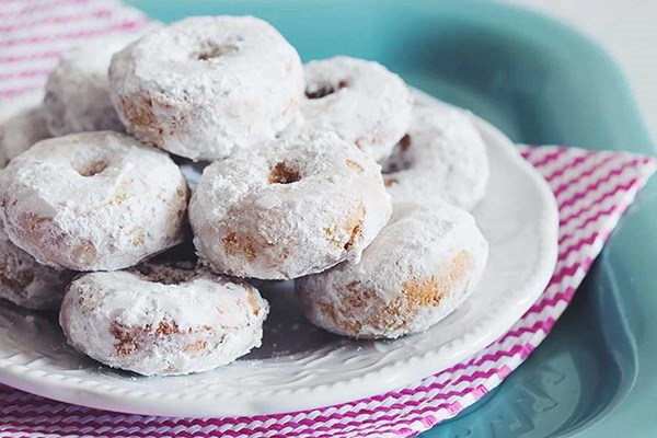 Gluten-Free Powdered Sugar Doughnuts