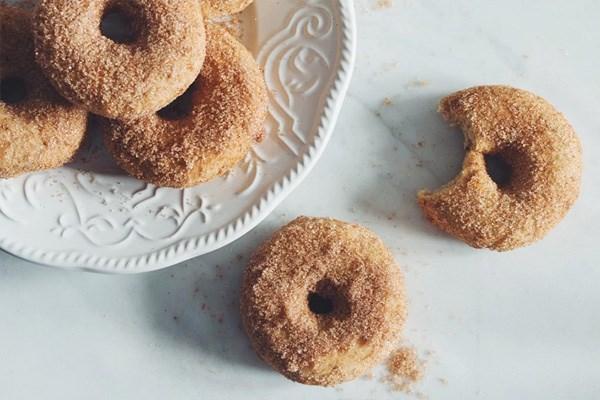 Vegan & Gluten-Free Cinnamon Sugar Doughnuts