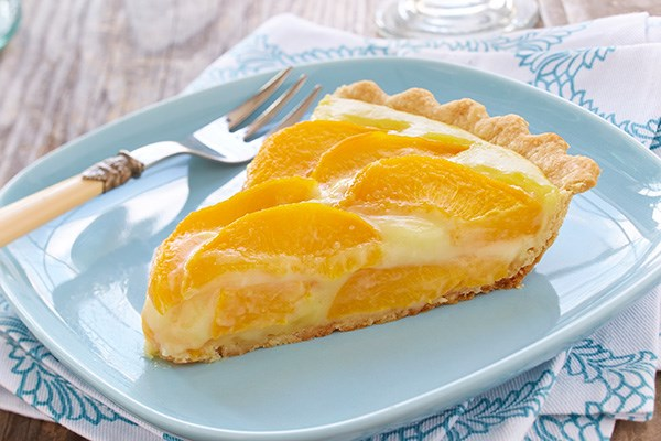 Peach Cream Tart